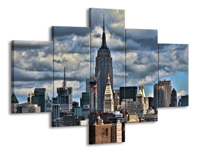 Vícedílný obraz New York pod mraky 100x70 cm