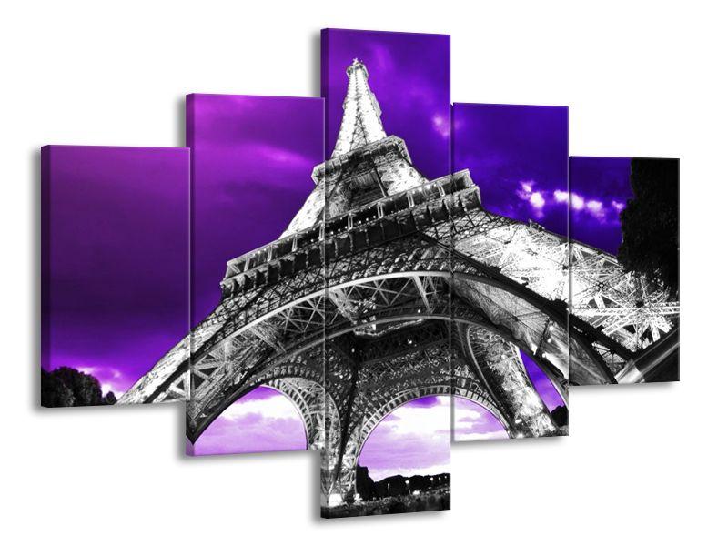 Vícedílný obraz Eiffelova věž 2 100x70 cm