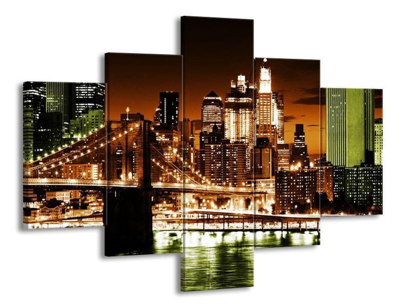 Vícedílný obraz Otrávený New York 100x70 cm