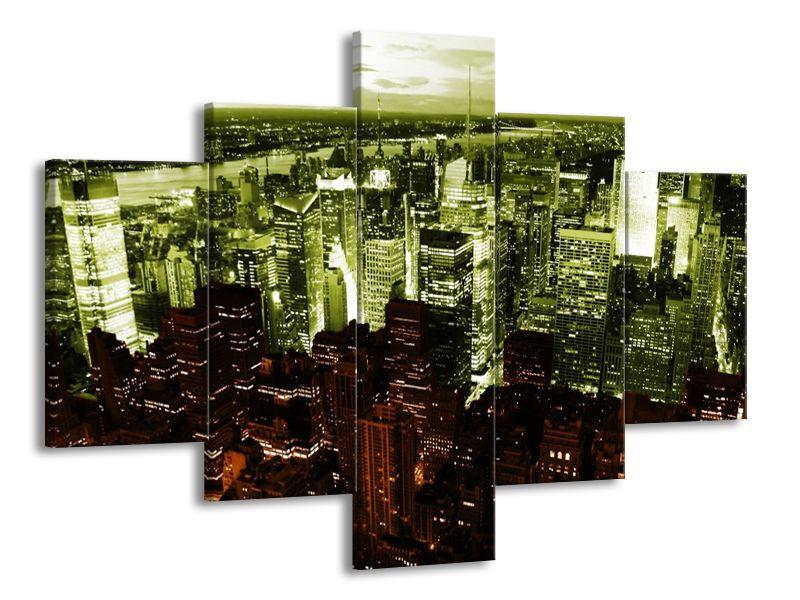 Vícedílný obraz New York night 100x70 cm