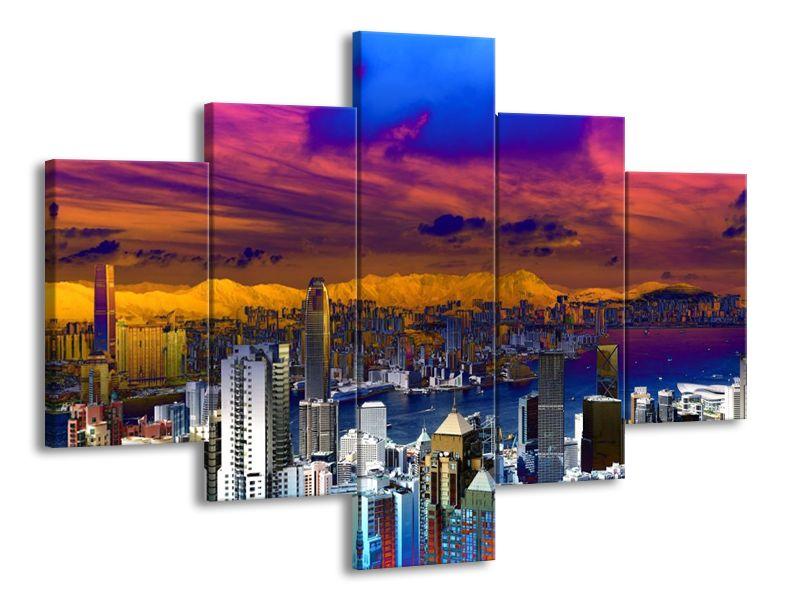 Vícedílný obraz New York a efekt 100x70 cm