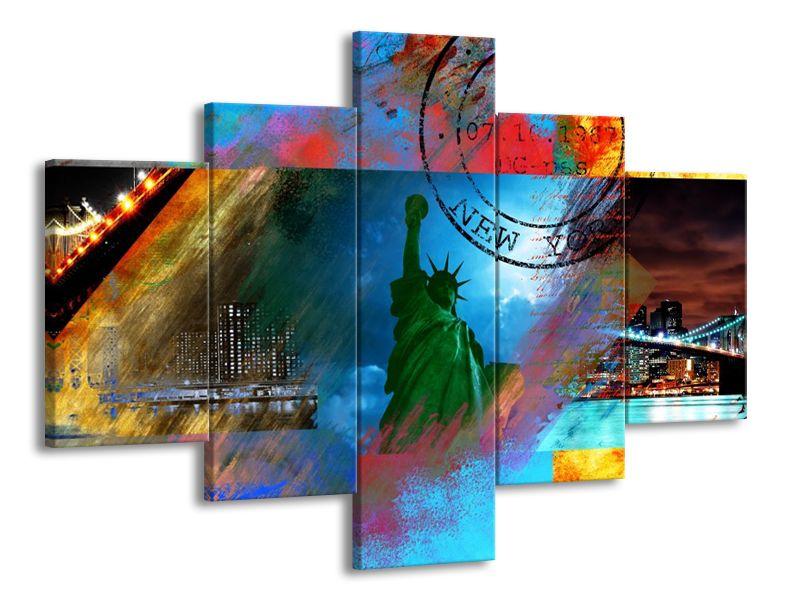 Vícedílný obraz New York Socha Svobody 100x70 cm