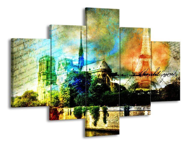 Vícedílný obraz Okouzlující Paříž 100x70 cm