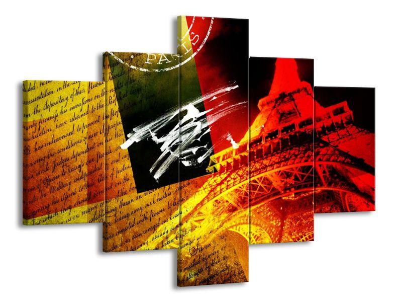 Vícedílný obraz Dopisy pro Paříž 100x70 cm