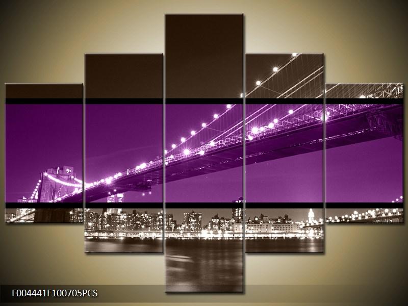 Most s městem dvoubarevně