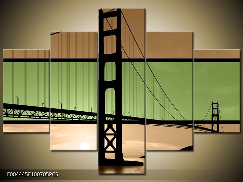 Vícedílný obraz Most San Francisco dvoujbarevně 100x70 cm
