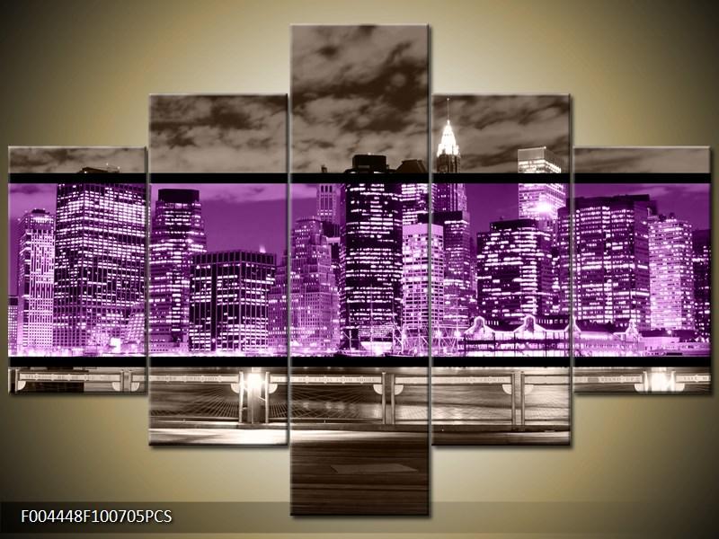 Vícedílný obraz New York dvoubarevně 100x70 cm