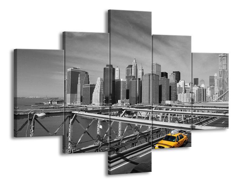 Vícedílný obraz New York černobíle 100x70 cm