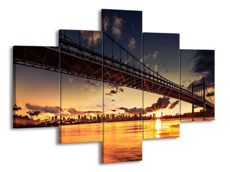 Obraz mostu při západu slunce