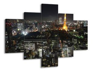 Zářící Eiffelova věž nadhled Paříže