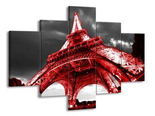 Červená Eiffelova věž