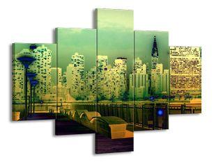 Pohled na velkoměsto v efektu