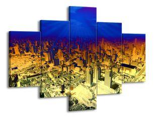 Modř nad městem efekt