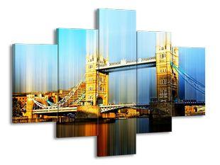 Tower Bridge efekt modrá