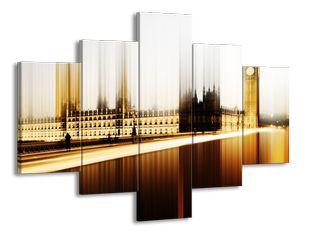 Westmisterský palác a Big Ben v efektu