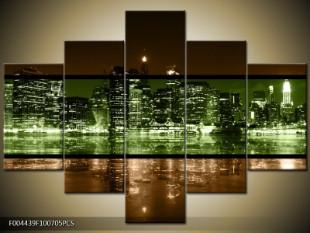 Noční velkoměsto dvoubarevně