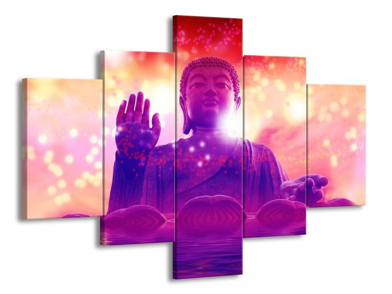 Buddha ve fialovém oparu