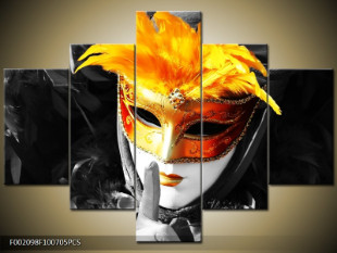 Oranžová maska