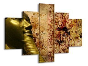 Zlatá socha faraona