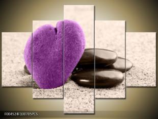 Fialové kamenné srdce
