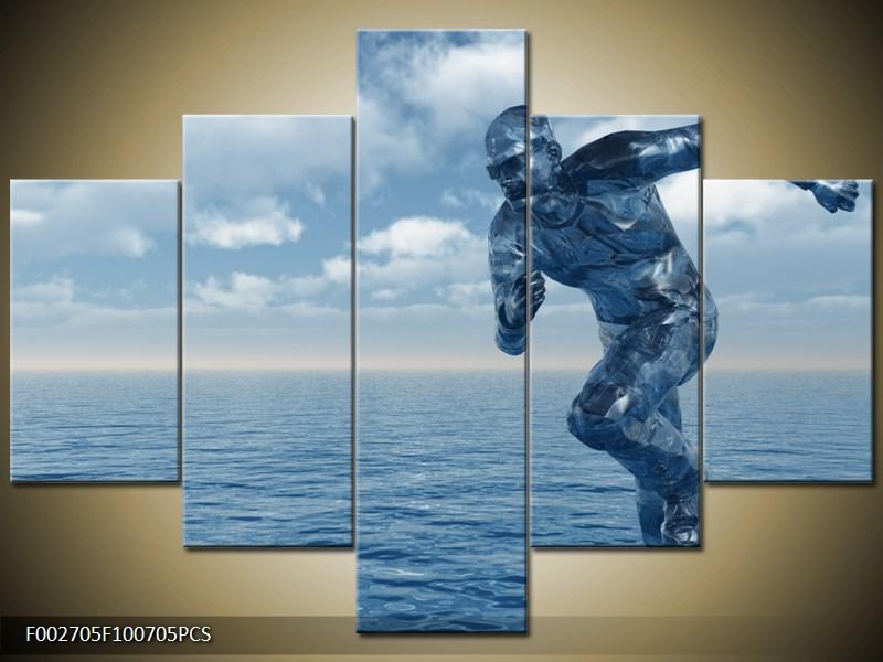 Běžící muž po vodě