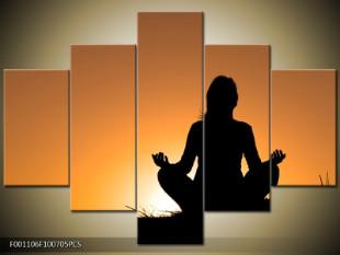 Meditace za západu slunce