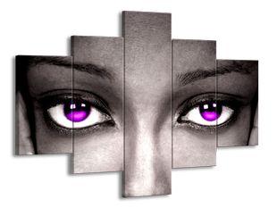 Fialové oči