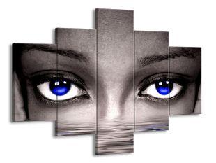 Modré hluboké oči