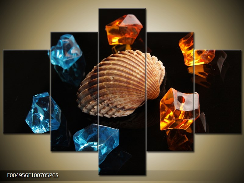 Mořská lastura s krystaly