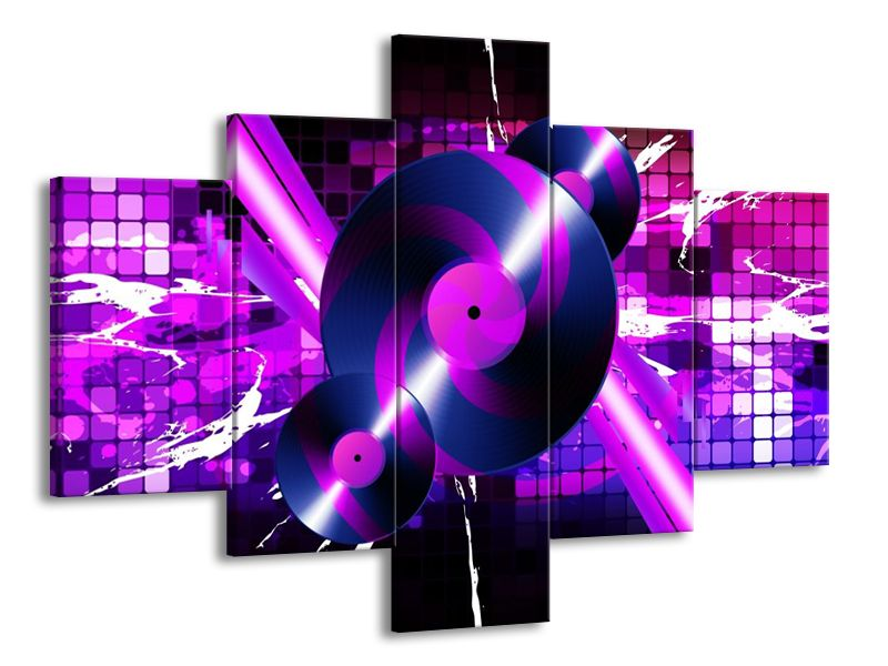 Vícedílný obraz Gramofonové desky 100x70 cm