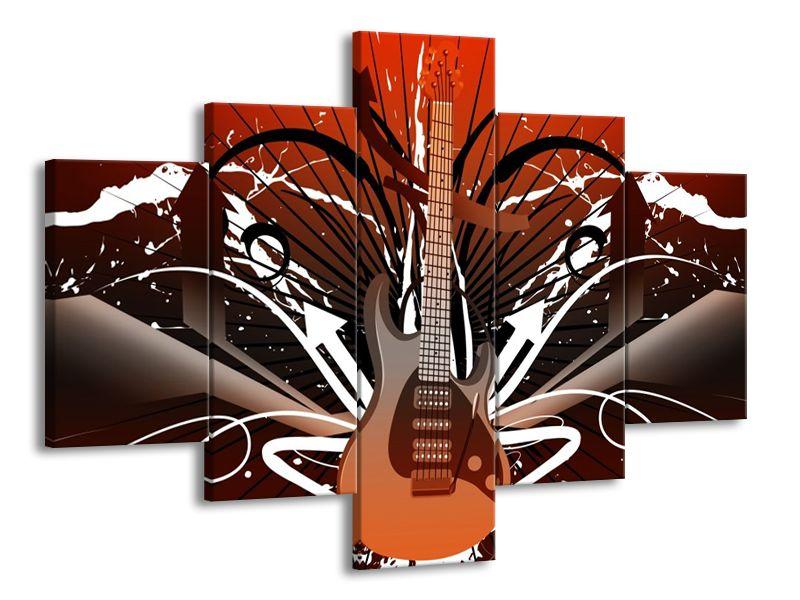 Vícedílný obraz Obrazy elektrické kytary 100x70 cm