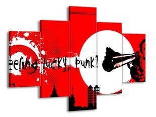 Punk puška červená