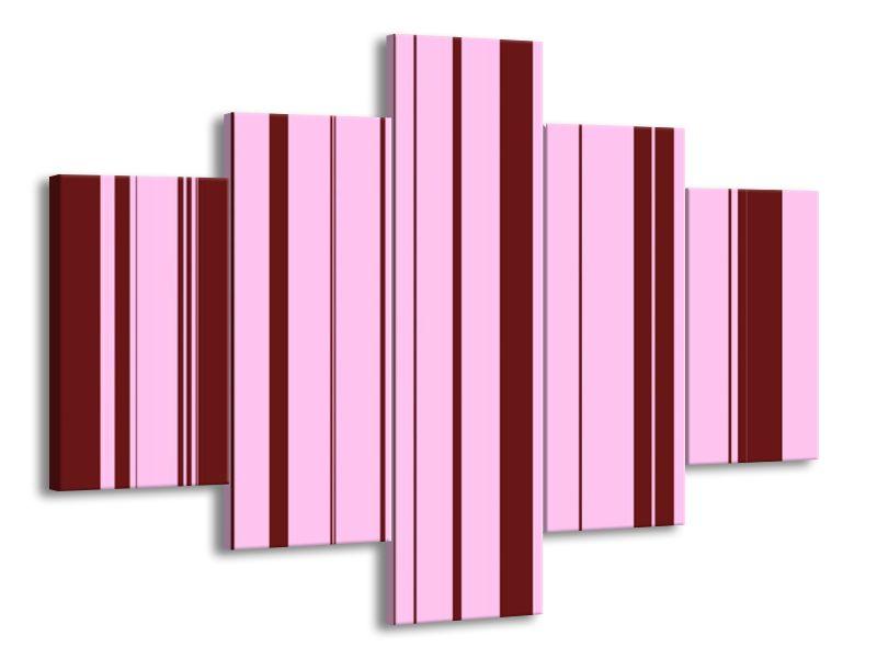 Růžovočervené pruhy