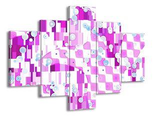 Fialovomodrá mozaika