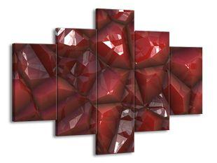 Červený povrch krystalu