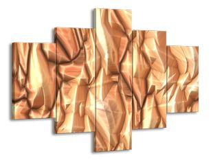 Skrčený zlatý papír
