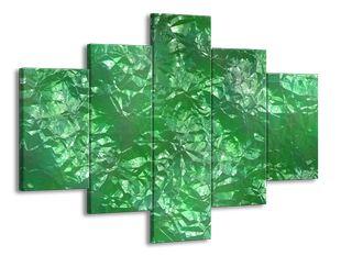 Zelený povrch krystalu