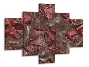 Červené krystaly