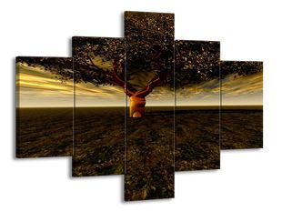 Listnatý strom v pustině