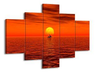 Červený západ slunce