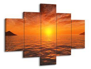 Žhnoucí západ slunce