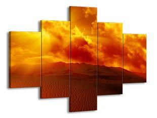 Horký den na poušti