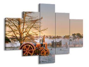 Traktor v zimě