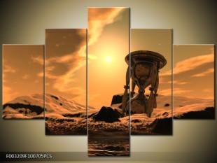 Přesýpací hodiny na zemi