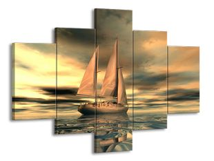 Plachetnice v oceánu