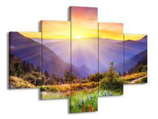 Slunce nad horami