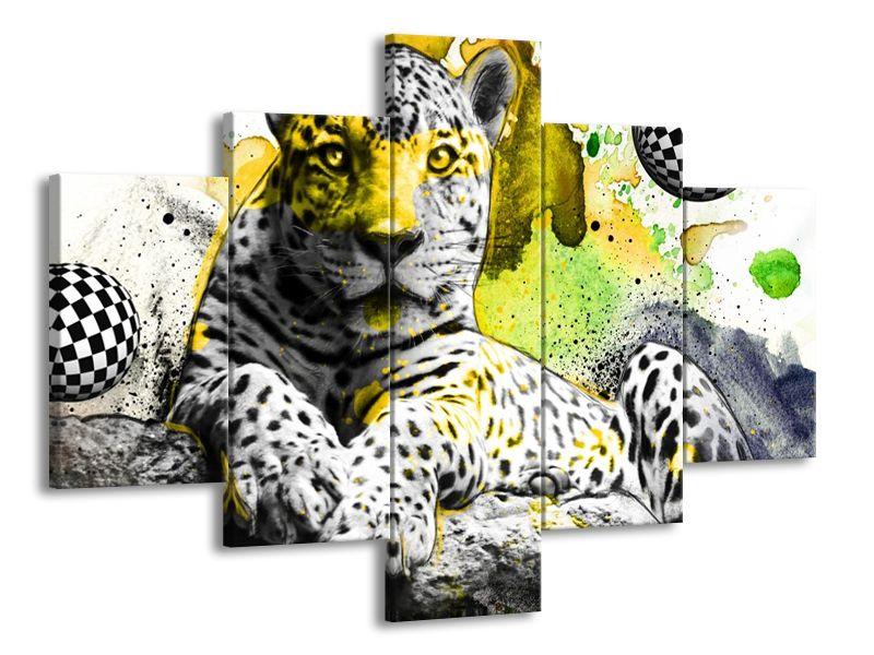 Levhart patina žlutá