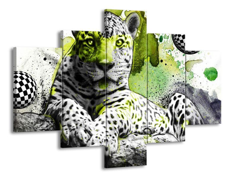 Levhart patina zelená