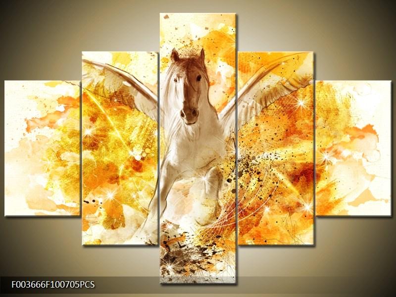 Bílý kůň s křídly