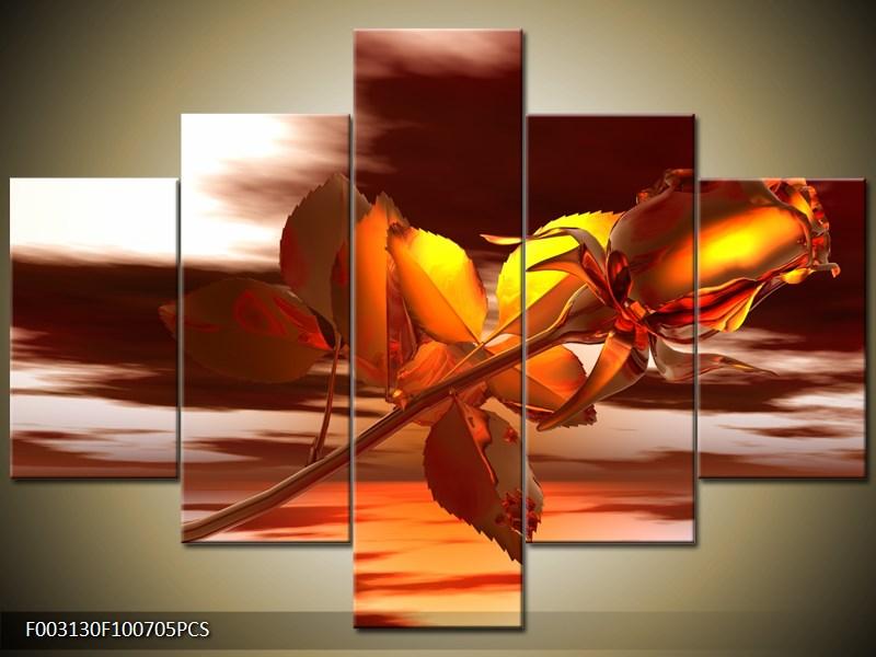 Kovová růže